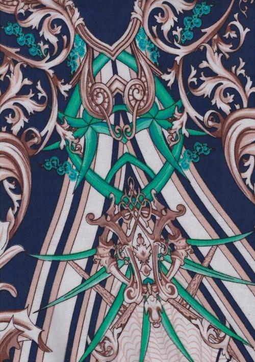 Стрелла набивк геометрия син фон  зел